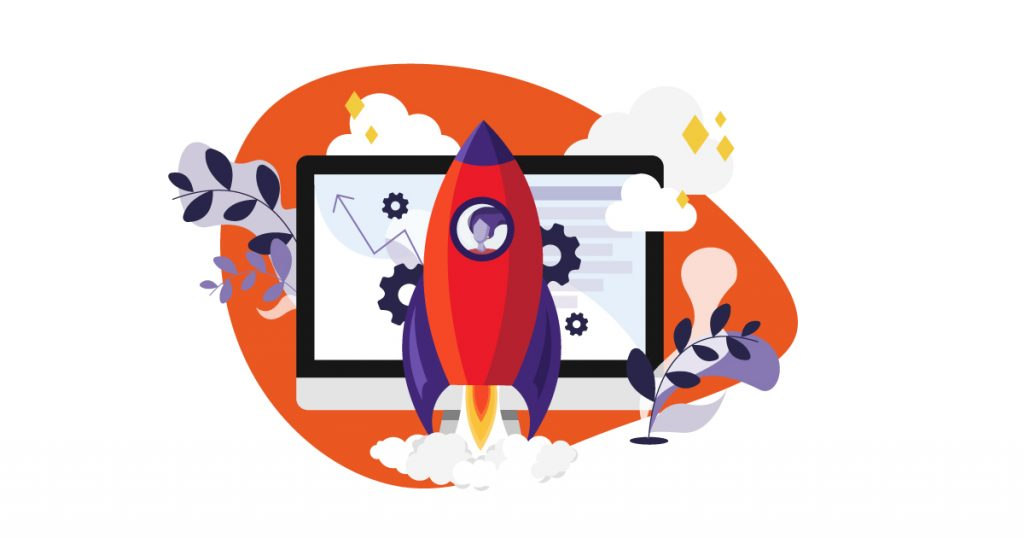 Illustration of recruitment website launch